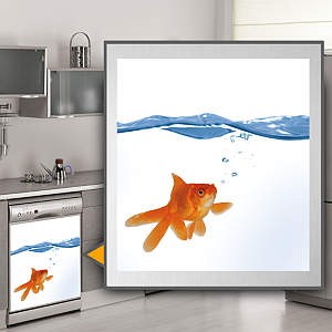 Goldfish: Dishwasher Skin Fathead Wall Decal